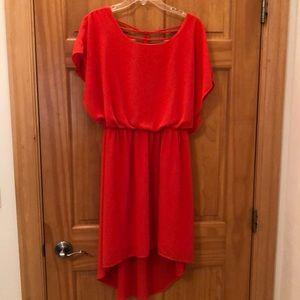 Stunning orange hi-lo summer dress